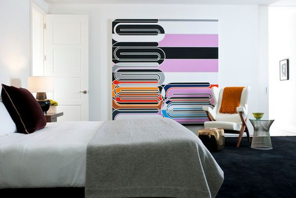 kreative wandgestaltung großes wandgemälde farbig