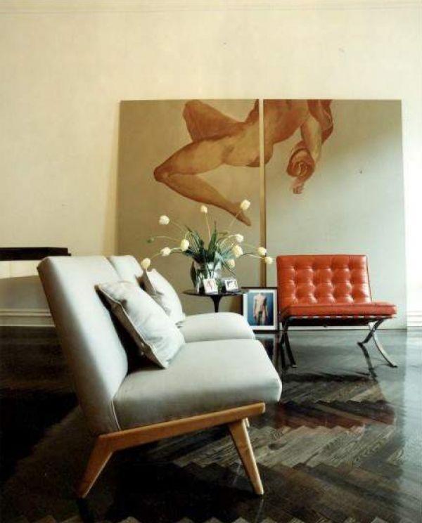 kreative wandgestaltung wohnbereich kunstwerk nicht aufgehängt