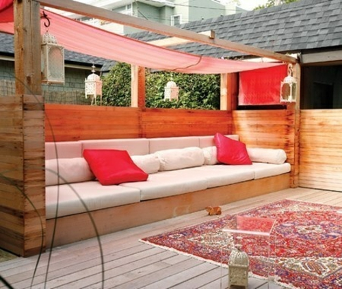 möbel paletten perserteppich gemütliche couch