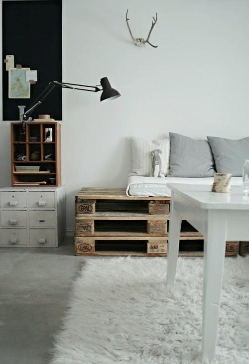 möbel aus paletten schicke couch