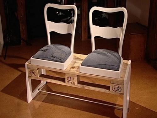 möbel aus paletten sitzbank alte stühle