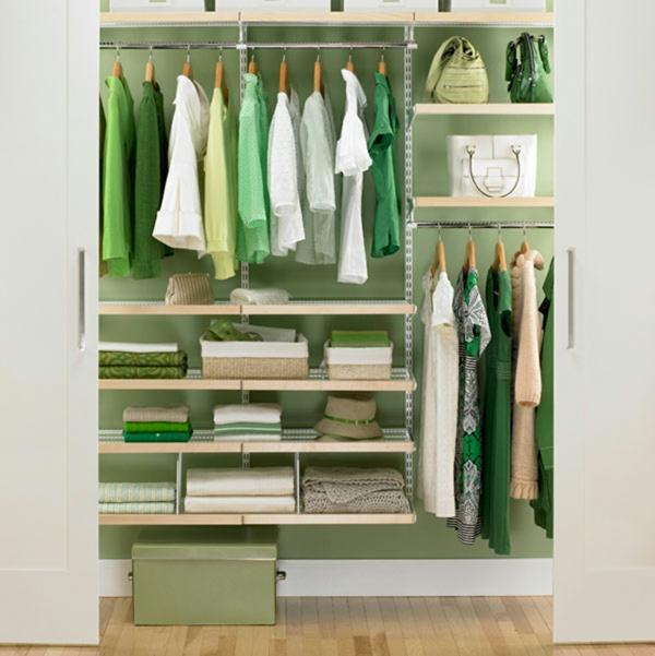 frisch grün frühling massiver Kleiderschrank im Schlafzimmer