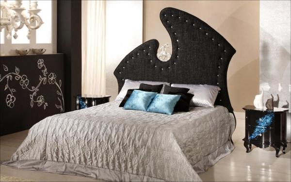 Kleiderschrank schlafzimmer kopfteil gepolstert attraktiv