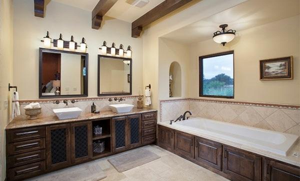 Badezimmer Designs badewanne holz