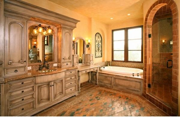 Badezimmer Designs warm einladend eingerichtet