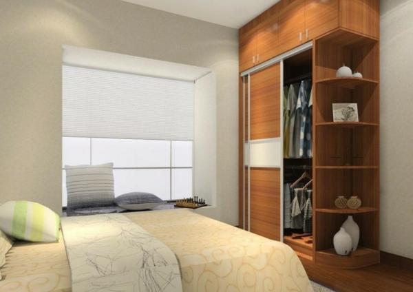 modern schlafzimmer städtisch bettdecke regale praktisch konzipiert
