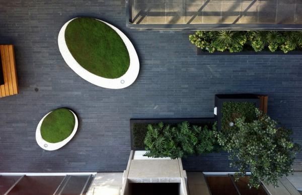 moderne gartengestaltung und landschaftsbau henri matisse hinterhof pflanzen