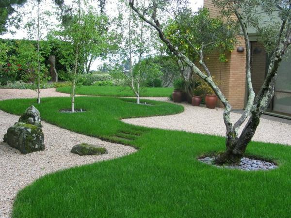 moderne gartengestaltung und landschaftsbau henri matisse rasenfläche