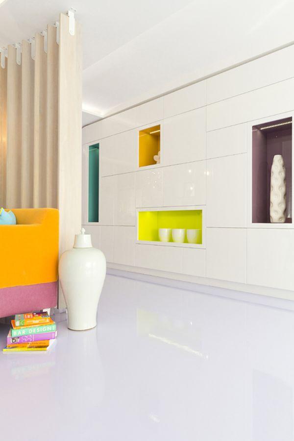 modernes apartment mit lebendiger farbpalette nicola katrib wohnzimmer