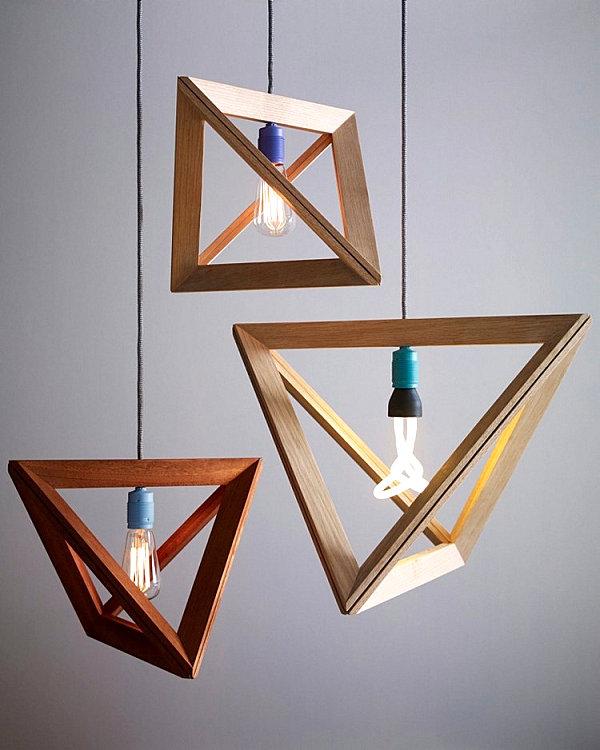 natürliche Materialien und Stoffe im Innendesign geometrische formen