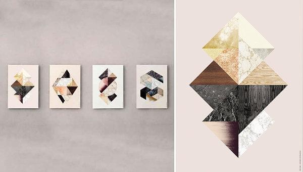 natürliche Materialien und Stoffe im Innendesign texturen holz stein