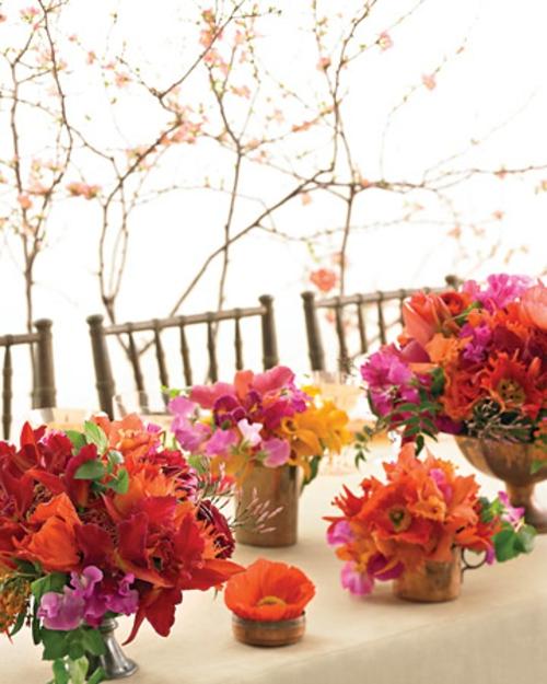 originelle osterdekoration frühlingsblumen tischdeko