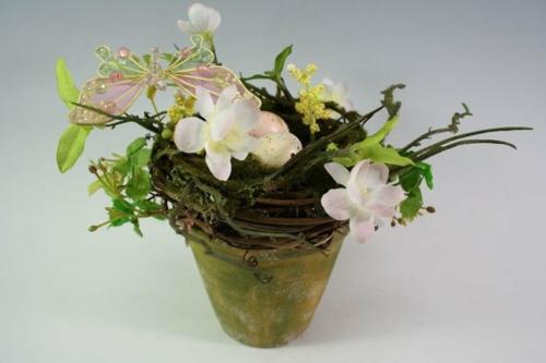osterdekoration weiden kunstblumen