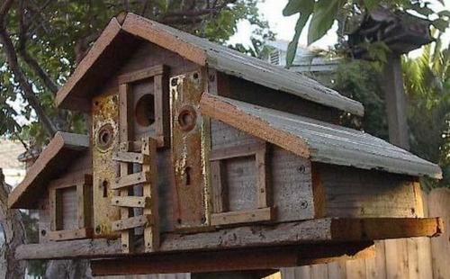 originelle vogelhäuser kreativ alte türen