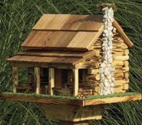 originelle vogelhäuser rustikal