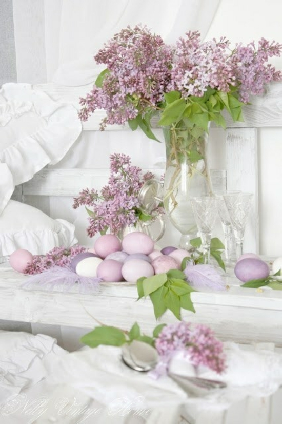 ostereier bemalen frühlingsblumen pastellfarben zärtlich