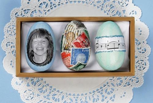 ostereier dekorativ dunkel familien fotos