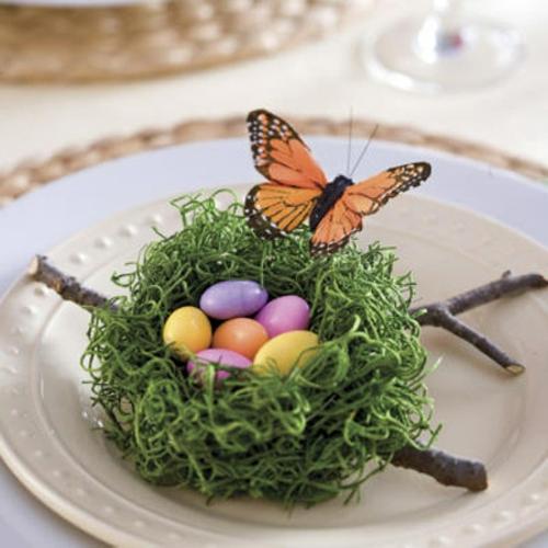 ostereier dekorativ schmetterling nest künstlich