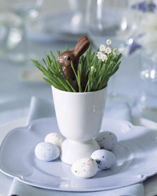 osterhase schokolade keramisch eierhalter