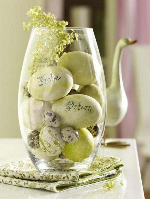 ostern deko 2014 ostereier frohe ostern glas