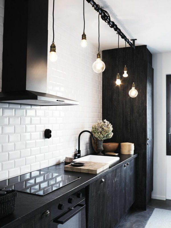 pendelleuchten design glühbirne fassung kabel küche beleuchtung