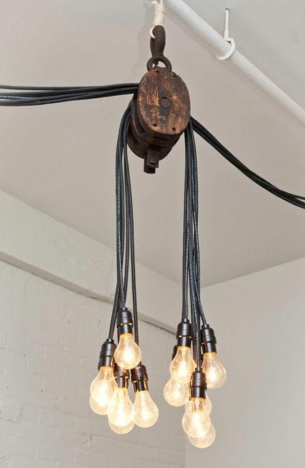 pendelleuchten design glühbirne fassung kabel landhausstil