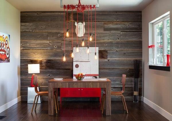 pendelleuchten design glühbirne fassung kabel rot umgewickelt esszimmer