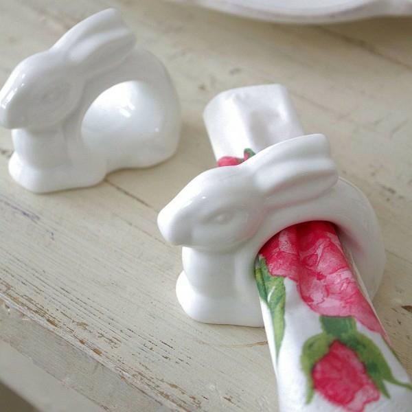 porzellan osterhase serviettenring osterdeko basteln tischdeko