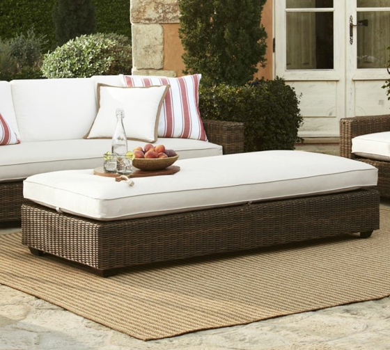rattan gartenmöbel lounge außenmöbel geflochten sofa ottomane