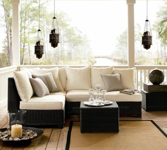 rattan gartenmöbel lounge außenmöbel geflochten wintergarten schwarz