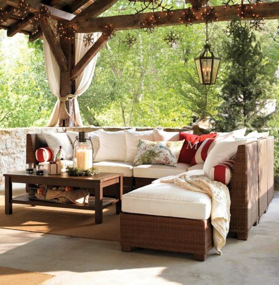 rattan gartenmöbel lounge gartenlaube
