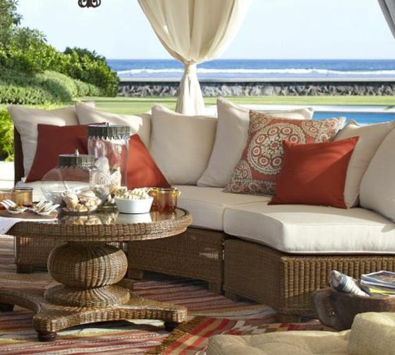 gartenmöbel rattan lounge terasse einrichten lounge entspannungsecke