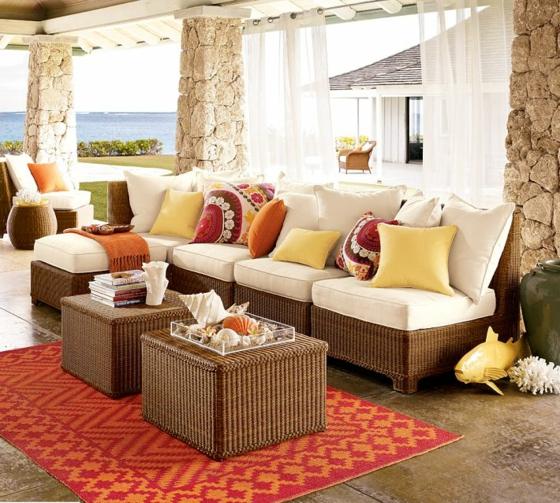 rattan gartenmöbel lounge terrasse qualitätvolle außenmöbel
