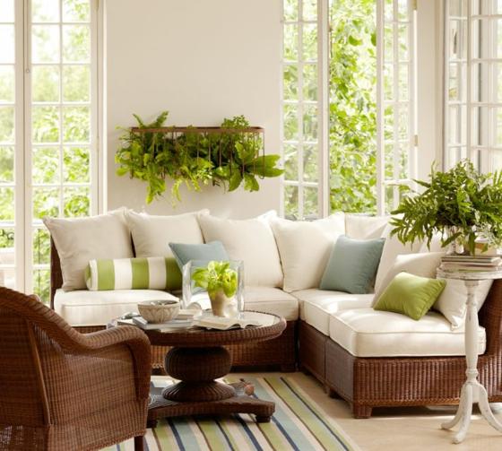 rattan gartenmöbel lounge wintergarten einrichten geflochtene möbel