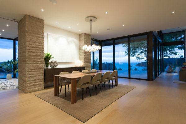 Mehrstufige residenz mit herrlicher aussicht auf vancouver - Teppich fur esszimmer ...