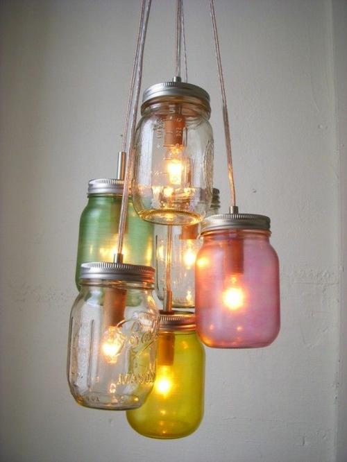romantische beleuchtung leuchte selber machen bastelidee