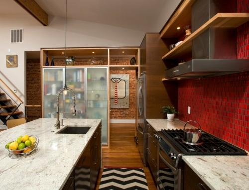 15 Hinreißende Küchenideen Für Rote Küchenrückwand ...