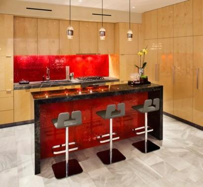 15 Hinreißende Küchenideen Für Rote Küchenrückwand