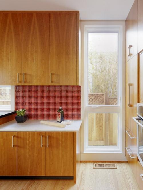 Rote Küchenrückwand - 15 hinreißende Küchenideen