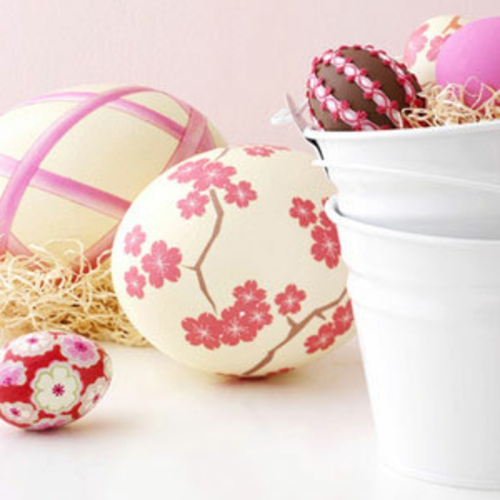 coole Ostereier frühling blumen blüten rosa weiß