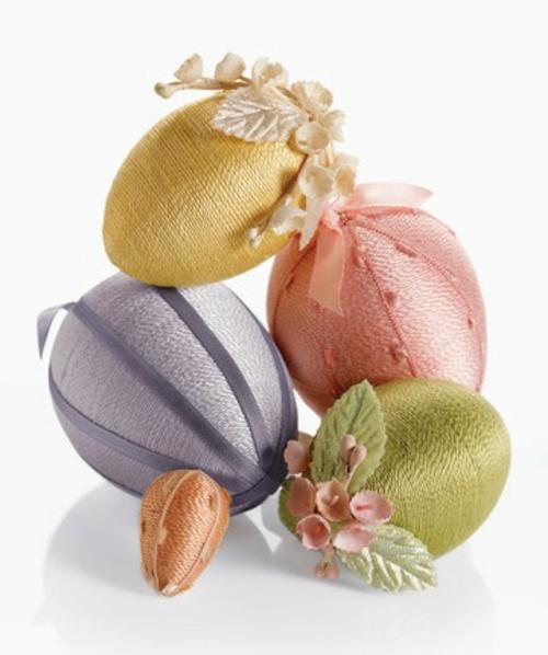 kunstvoll Ostereier frühling garn bunt