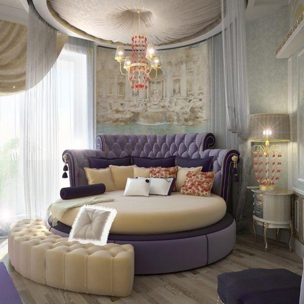 Schlafzimmer beige lila schlafzimmer rundbett beige lila leder luxus