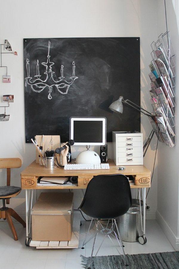 21 DIY Schreibtische aus Europaletten - Geld sparen ...