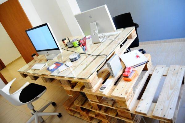 schreibtische aus europaletten stufenfrmige paletten - Paletten Schreibtisch