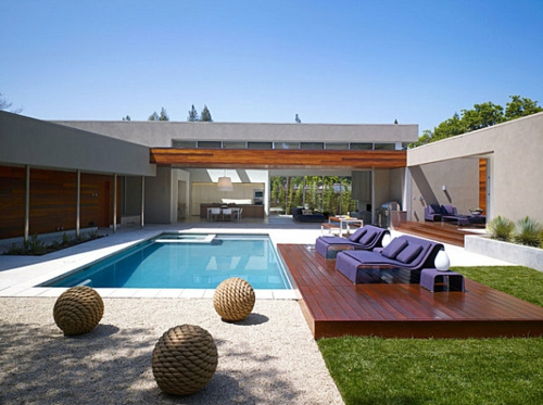 schwimmbad sitzplätze sonnig garten hinterho