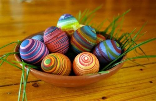 spiralförmig muster bunt farbenfroh ostereier