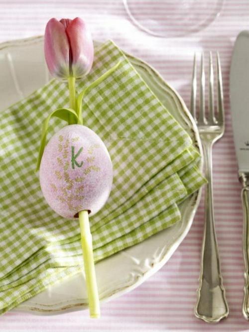 bestecke grün küchentuch osterdeko