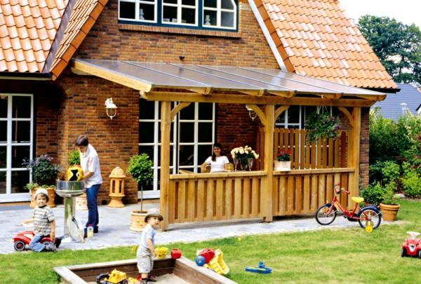 sch ne terrassen berdachung wenn die terrasse den wohnraum erweitert. Black Bedroom Furniture Sets. Home Design Ideas