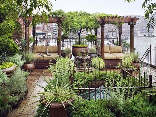 terrassengestaltung grünanlagen pergola