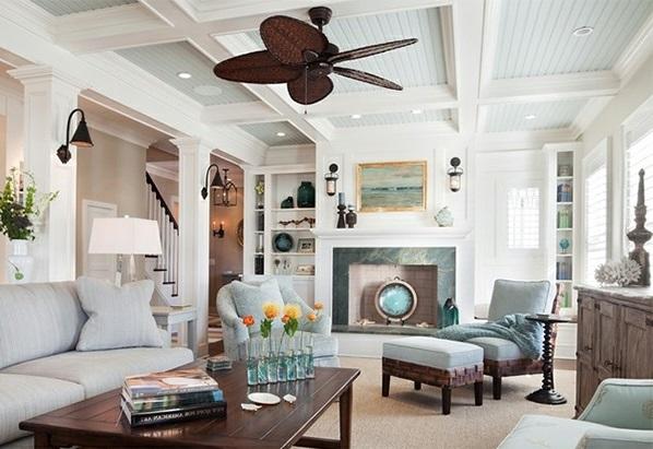 15 traditionelle wohnzimmer mit kassettendecken - Auergewhnliche Deckengestaltung